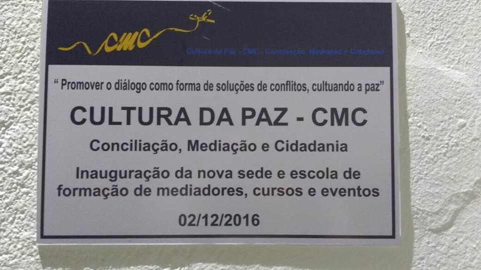 Inauguração Cultura da Paz – CMC – 2 de Dezembro de 2016